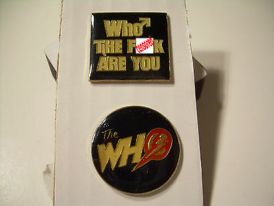 The Who Vintage pins from the 80's