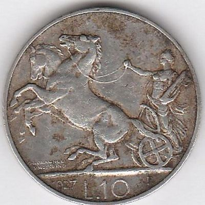 1927 Italy L10 Silver Coin