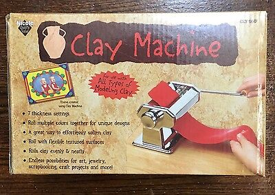 Nicole Polymer modeling Clay Roller Machine Craft Pasta Maker Press Extrude Tool