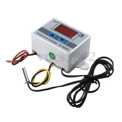 220V Digital LED Temperature Controller 10A Thermostat Control with Switch Probe