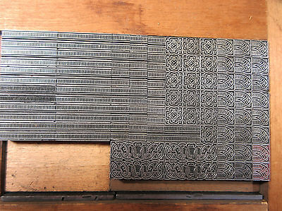 Letterpress Lead Type 24 Pt. Decorative Border  ATF   X74