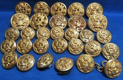 WWII Army Buttons Lot Of 30