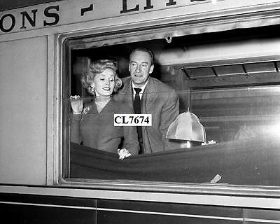 Zsa Zsa Gabor with Husband George Sanders in a Train from Rome to Naples Photo