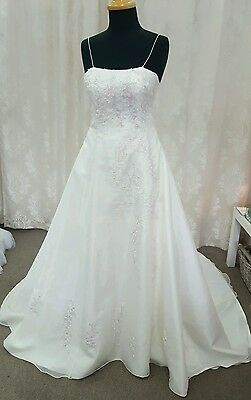 Size 8 Ivory and Pink Wedding Dress