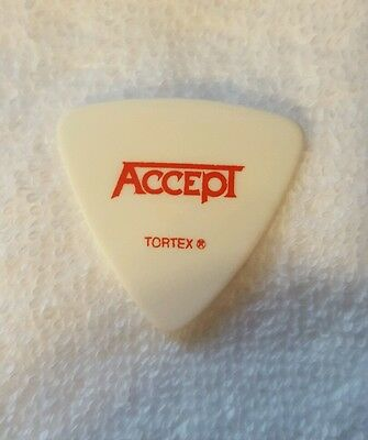 2010 Rare! ACCEPT Bood of the Nations Tour Used by Peter Baltes Guitar Pick!