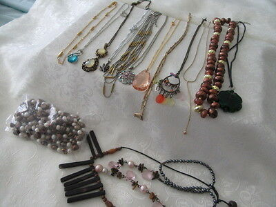 Beautiful Bulk Lot Of 15-Vintage Style  Necklaces , Great For Resale