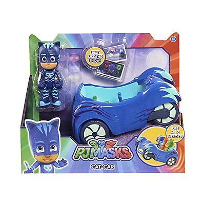 """NEW Blue PJ Masks Cat Boy Car Includes 3"""" Figure For Ages 3+ and up"""