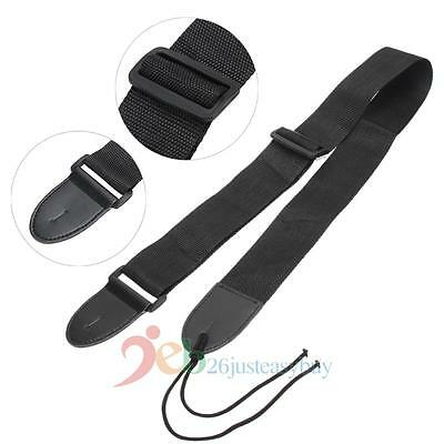 Acoustic Electric Guitar Bass Guitar Strap Adjustable Belt Nylon Leather End New