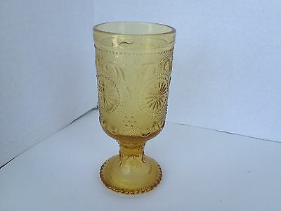 Vintage Tiara Indiana Amber Glass Water,Wine Goblet