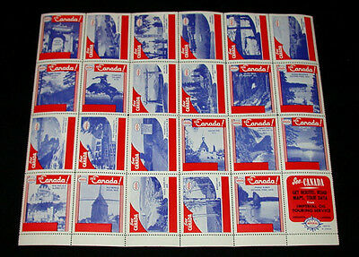 Lot of 24 Vintage Imperial Oil See Canada Poster Cinderella Mint Stamps Sheet