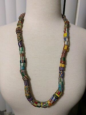 vintage african large trade beads millaflora glass necklace