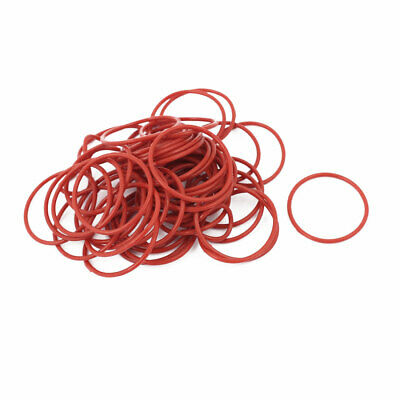 50pcs 1.5mm Thick Heat Oil Resistant Mini O-Ring Rubber Sealing Ring 28mm OD Red