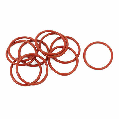 10pcs 1.5mm Thick Heat Oil Resistant Mini O-Ring Rubber Sealing Ring 21mm OD Red