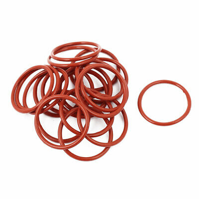 20pcs 1.5mm Thick Heat Oil Resistant Mini O-Ring Rubber Sealing Ring 21mm OD Red