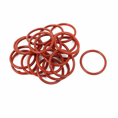 20pcs 1.5mm Thick Heat Oil Resistant Mini O-Ring Rubber Sealing Ring 18mm OD Red