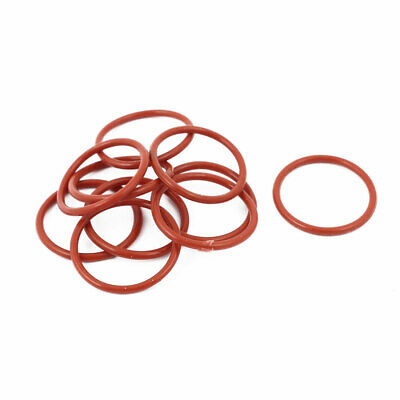 10pcs 1.5mm Thick Heat Oil Resistant Mini O-Ring Rubber Sealing Ring 20mm OD Red
