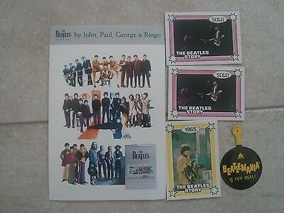 "The Beatles 5 items - ""Beatles Story"" cards, ""Anthology"" Postcard, Beatlemania"