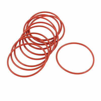 10pcs 1.5mm Thick Heat Oil Resistant Mini O-Ring Rubber Sealing Ring 35mm OD Red