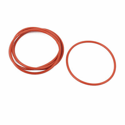5pcs 1.5mm Thick Heat Oil Resistant Mini O-Ring Rubber Sealing Ring 35mm OD Red
