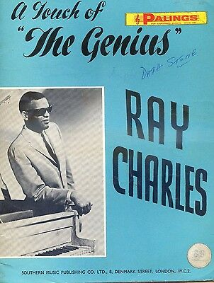 """Sheet Music - Ray Charles - """"A Touch of The Genius"""" U.K. 1966."""