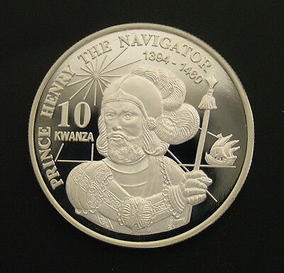 1999 Angola Large 10 Kwanza-Henry the Navigator/Ship