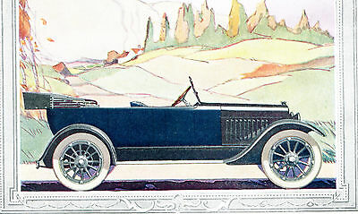 1919 Original Hot-Spot CHALMERS & MARMON 34 Full Page COLOR Motor CAR ADS