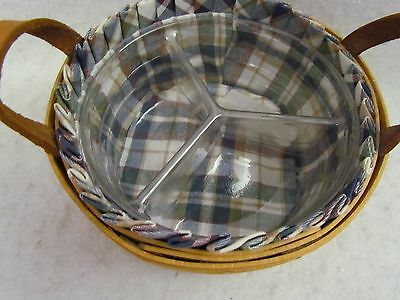 2007 Longaberger Button Basket Combo with 3-Way Divided Protector