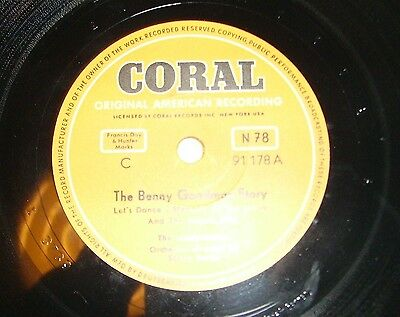 Schellack: The Modenaires - The Benny Goodman Story RARE Coral Top Zustand