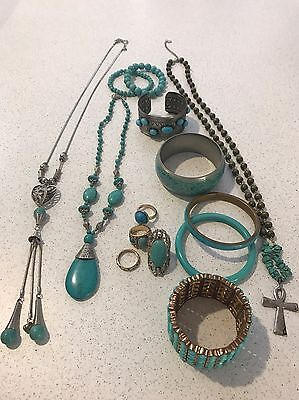 Bulk Jewellery - Turquoise Colour - Rings , Bangles & necklaces