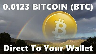 0.0123 Bitcoin (BTC) - Mined Bitcoin Direct To Your Wallet - By CryptoCoinShop