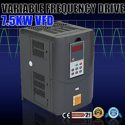 10HP 7.5KW 34A Variable Frequency Drive VFD HVAC units Inverter Lathes Mills