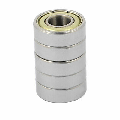 Metal Shielded Sealed Low Speed Deep Groove Ball Bearing 8mmx19mmx6mm 5pcs