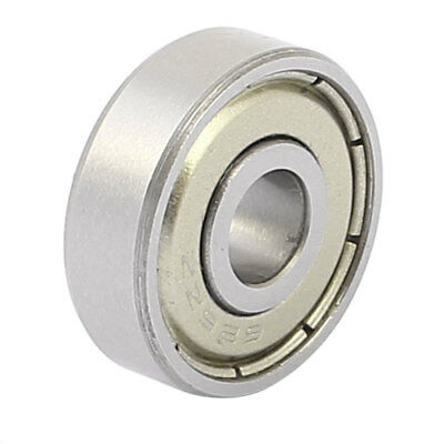 Metal Mute Deep Groove Sealed Shielded Ball Bearing Silver Tone 6mmx19mmx6mm