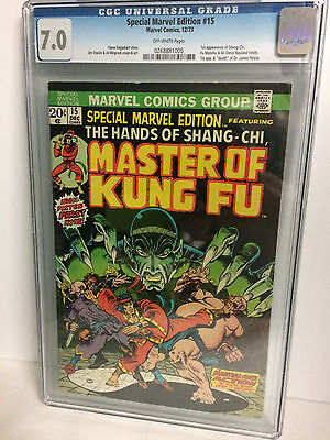 Special Marvel Edition #15 CGC 7.0, 1973 - 1st app of Shang-Chi, Fu Manchu
