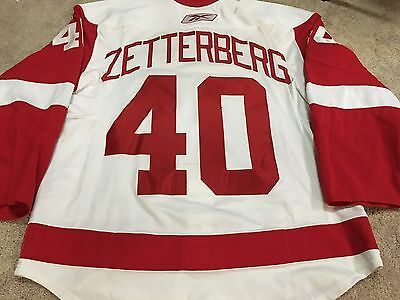 HENRIK ZETTERBERG 08'09 Detroit Red Wings PHOTOMATCHED Game Worn Used Jersey COA