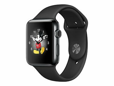 Apple Watch Series 2 38 mm stainless steel smart watch with sport band fluoroela
