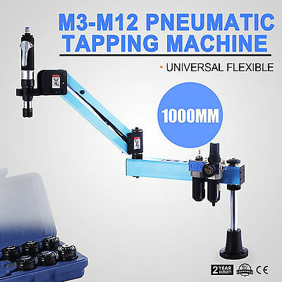 Pneumatic Air Tapping Drilling Machine M3-M12 Vertical Type Light Weight 1000mm