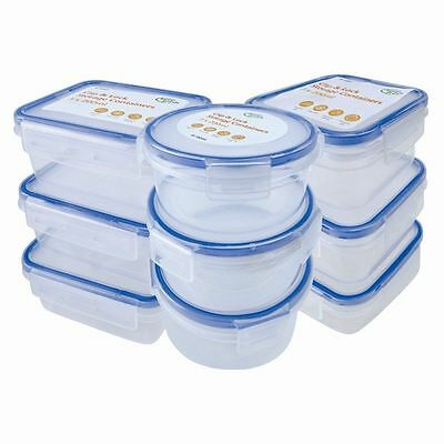 New 3X Clip & Lock lids Containers Storage Plastic Boxes Fresh Food Pack Lunch