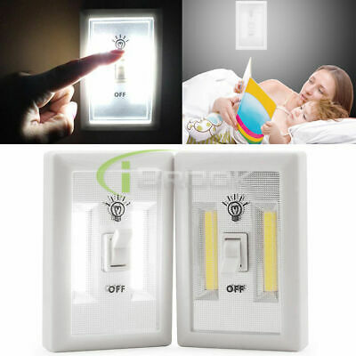 1/2/5 Pack COB LED Wall Switch Wireless Closet Cordless Night Lights Lamp 3W New
