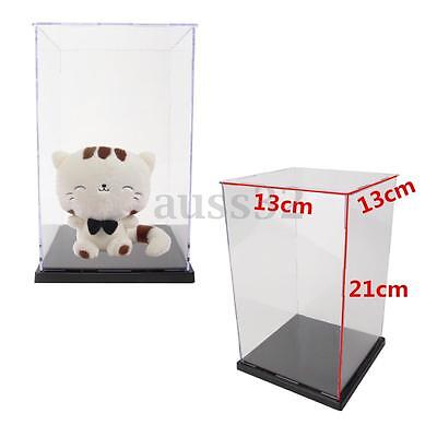 "5.5x5.5x8.3"" Clear Acrylic Display Show Box Case Dustproof Tray Protection 21cm"
