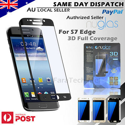3D NUGLAS Samsung Galaxy S7 EDGE Full Coverage Tempered Glass Screen Protector