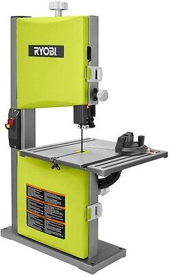 Powerful Accurate Heavy Duty Ryobi 2.5 Amp 9 in. Table Band Saw Green Tool