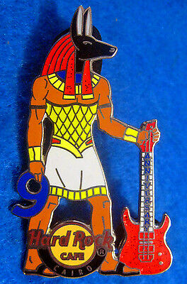 CAIRO ANCIENT EGYPTIAN ANUBIS GOD 9th ANNIVERSARY GUITAR Hard Rock Cafe PIN LE
