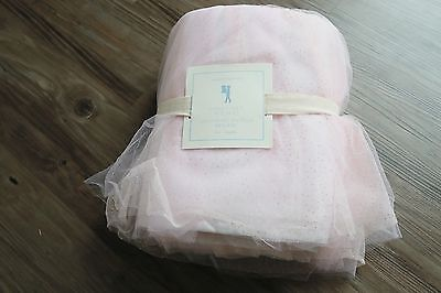 pottery barn kids Sparkle Tulle Bed Skirt queen new original $142.99 rare item