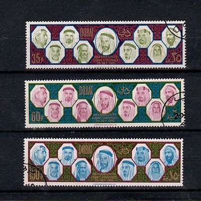 Dubai 1966 Arab States Gulf Leaders Summit Conference Set S.g. 182-184