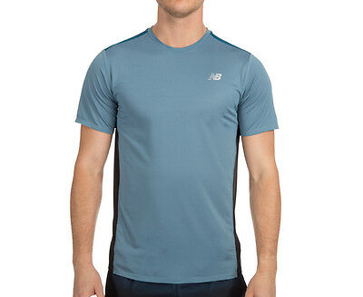 New Balance Men's Accelerate Short Sleeve Tee - Riptide/Galaxy