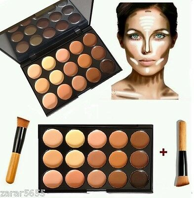 15 Color Concealer and contoour palette with Brush Face cream Makeup, Palette #2