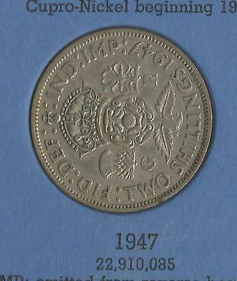 1947 George VI KGVI  Florin / Two shilling coin good circulated