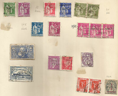 FRANCE; lot of early postage due stamps 19 used incl.NORMANDIE.pm ST MALO
