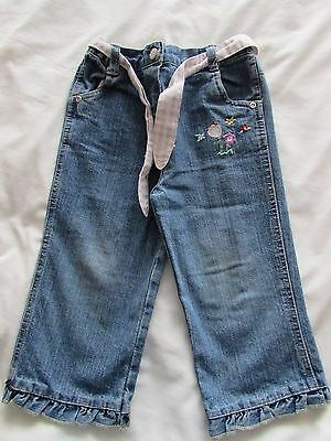 Girls Jeans with elasticated waist Size 2